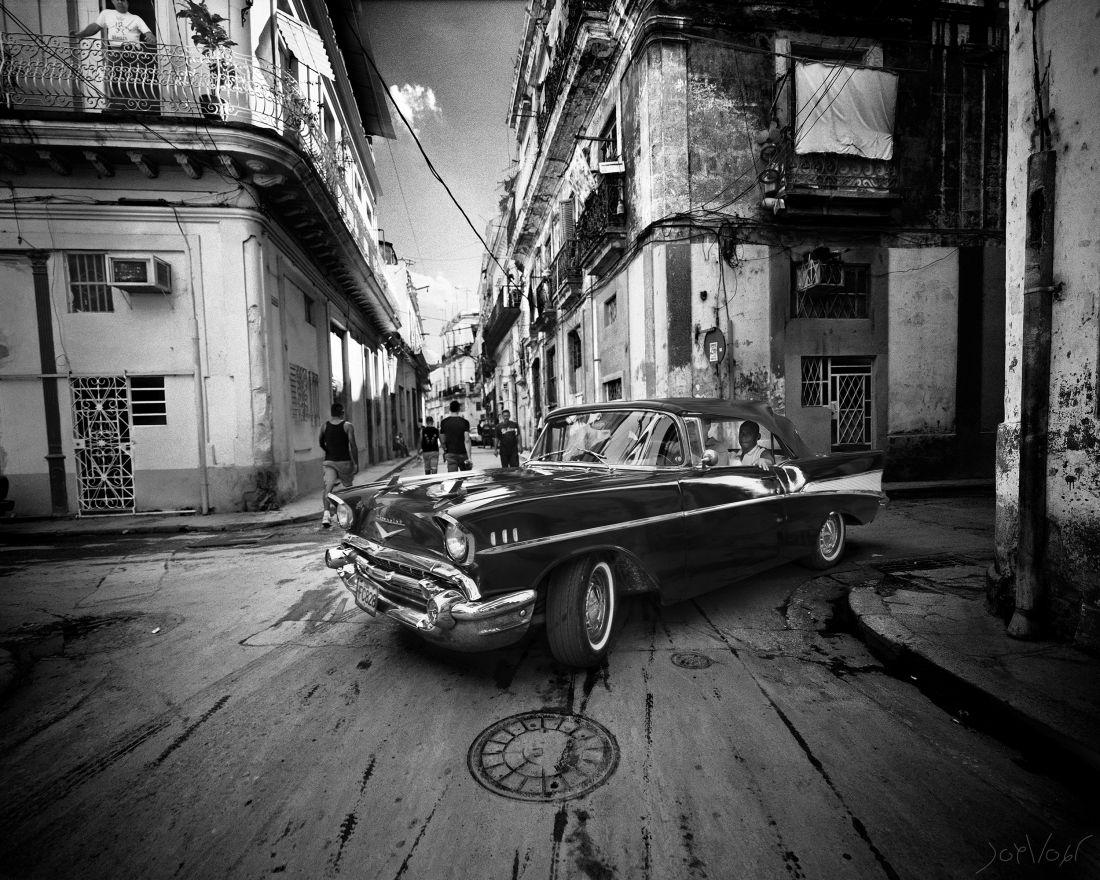 Chevrolet Dans La Vieille Ville La Havane Cuba