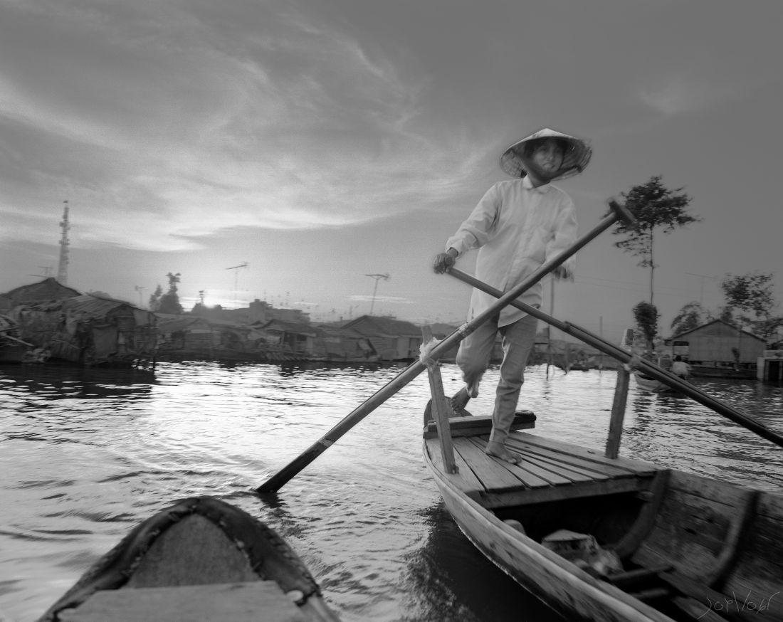 Soleil Levant Delta Du Mekong Vietnam